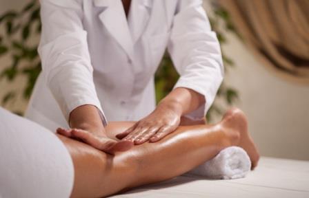 Massage of the lower limb